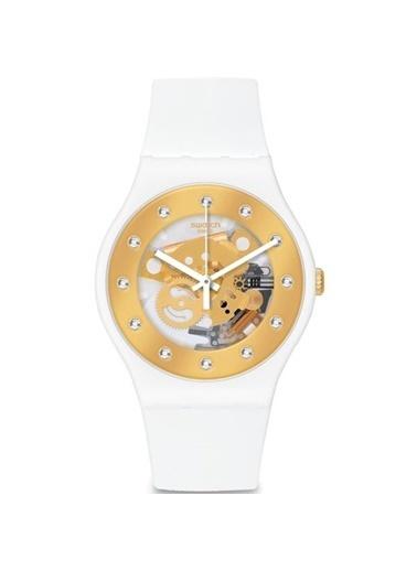 Swatch SUOZ148 Beyaz Bayan Saati Beyaz